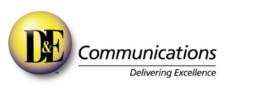 D&E communications logo